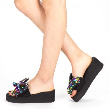 Papuci cu Platforma Dama TG2 Color Mei