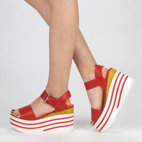 Sandale Dama cu Platforma FD35 Red Mei