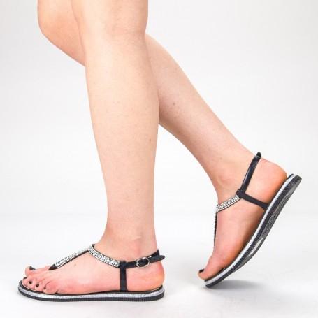 Sandale Dama WS125 Black-Silver Mei