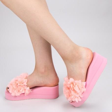 Papuci Dama cu Platforma WS152 Pink Mei