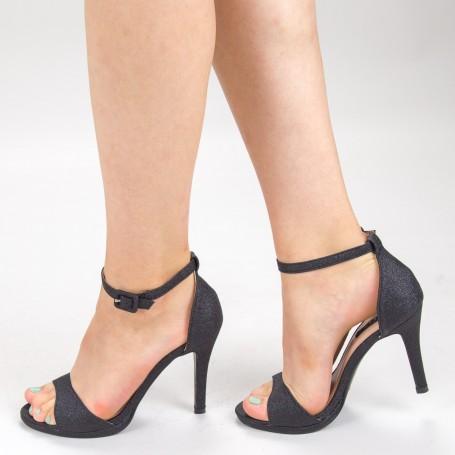 Sandale Dama cu Toc XD250YA Black Mei