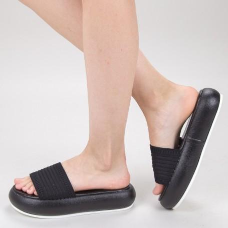 Papuci Dama cu Platforma YSY1 Black Mei