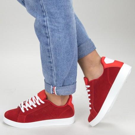 Pantofi Sport Dama YKQ117 Red-white Mei