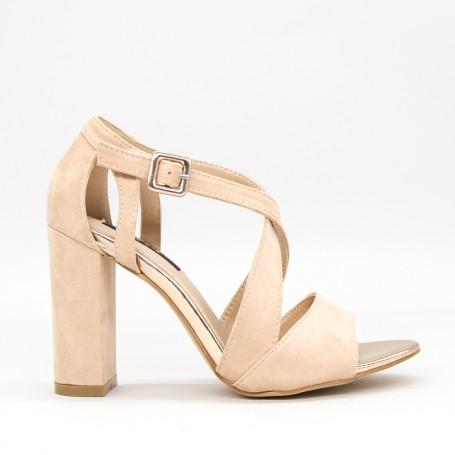 Sandale Dama cu Toc KV32 Beige Mei