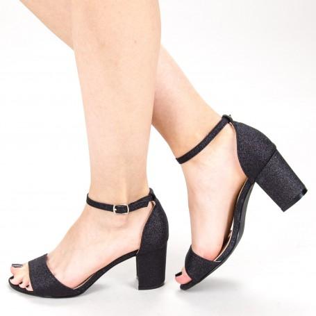 Sandale Dama cu Toc XD251RA Black Mei