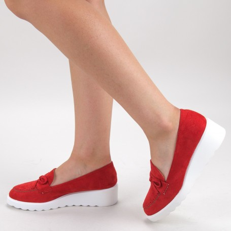Pantofi Casual Dama HJ13 Red Mei