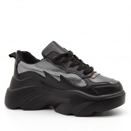 Pantofi Sport Dama cu Platforma 193 Black Mei