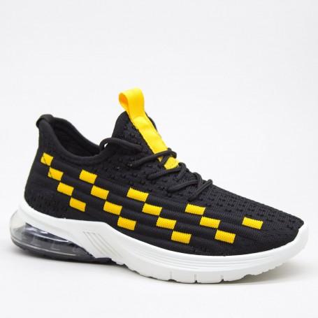 Pantofi Sport Dama LGFL1 Black-yellow Mei