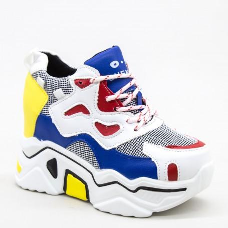 Pantofi Sport Dama cu Platforma 805 PSDP Blue Mei
