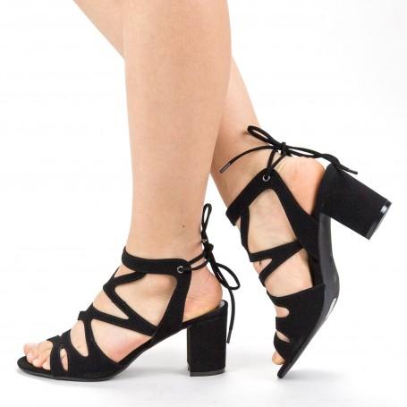 Sandale Dama cu Toc XKK229 Black Mei