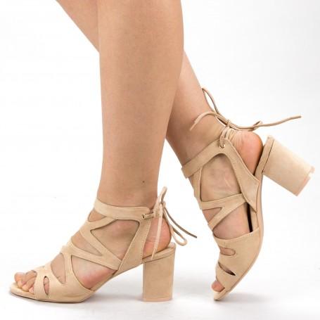 Sandale Dama cu Toc XKK229 Nude Mei