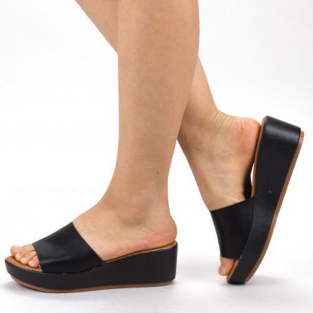 Papuci Dama cu Platforma ZX1 Black Mei