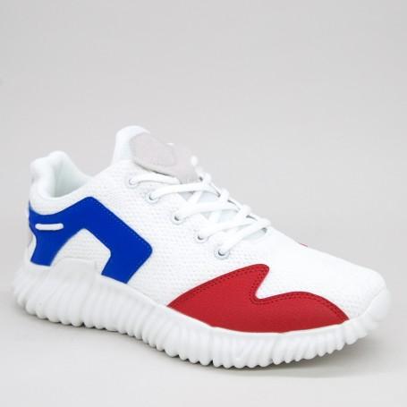 Pantofi Sport Barbati 0557 White-Blue Mei