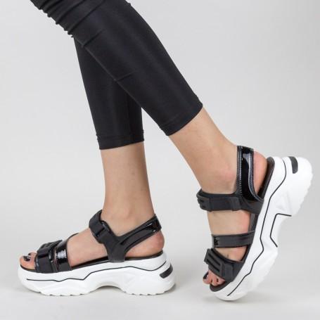 Sandale Dama cu Platforma NX95 Black Mei