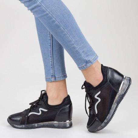 Pantofi Sport Dama cu Platforma SZ258 Black Mei