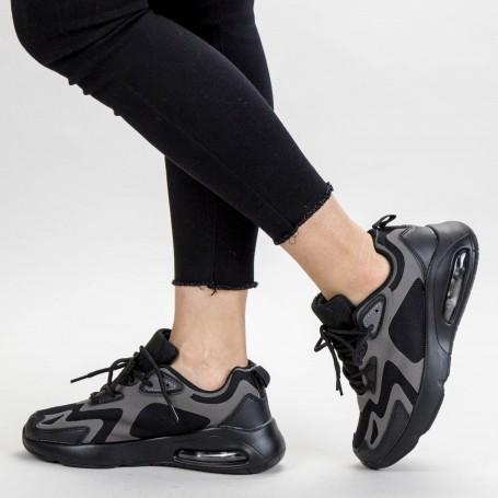 Pantofi Sport Dama 0596 PSD Full Black Mei