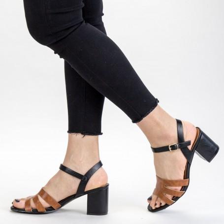 Sandale Dama cu Toc gros CS79 Black Mei