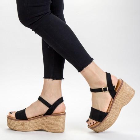Sandale Dama cu Platforma FS15 Black Mei