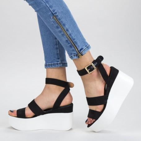 Sandale Dama cu Platforma GY10 Black Mei
