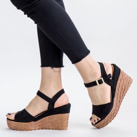 Sandale Dama cu Platforma GY8 Black Mei