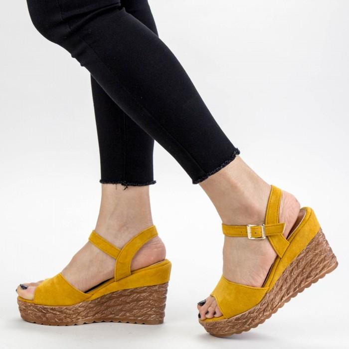 Sandale Dama cu Platforma GY8 Yellow Mei