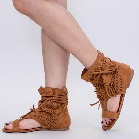 Sandale Dama YBS67 Camel Mei