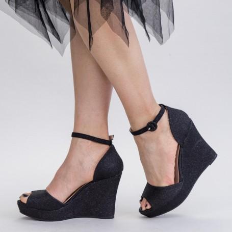 Sandale Dama cu Platforma XDT271A Black Mei