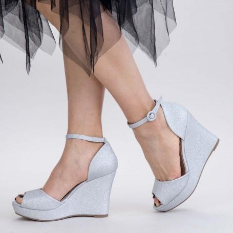 Sandale Dama cu Platforma XDT271A Silver Mei