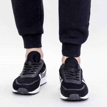 Pantofi Sport Barbati 0567 PSB Black-White Mei