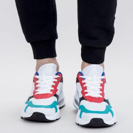 Pantofi Sport Barbati 0568 PSB White-Blue Mei