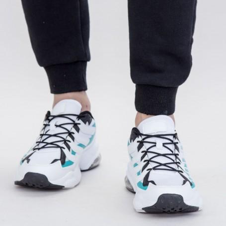 Pantofi Sport Barbati 0597 PSB White-Mint Mei
