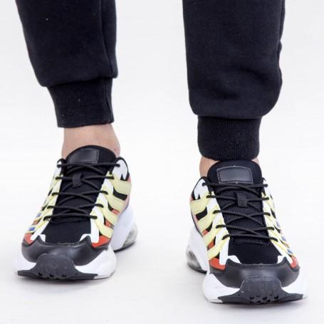 Pantofi Sport Barbati 0597 PSB Black-Yellow Mei