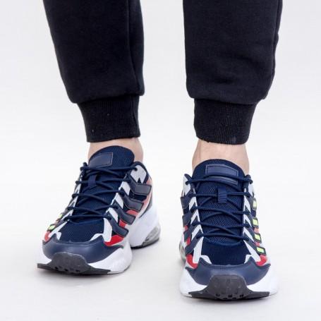 Pantofi Sport Barbati 0597 PSB Navy-Green Mei
