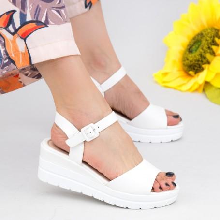 Sandale Dama cu Platforma WT9 White Mei