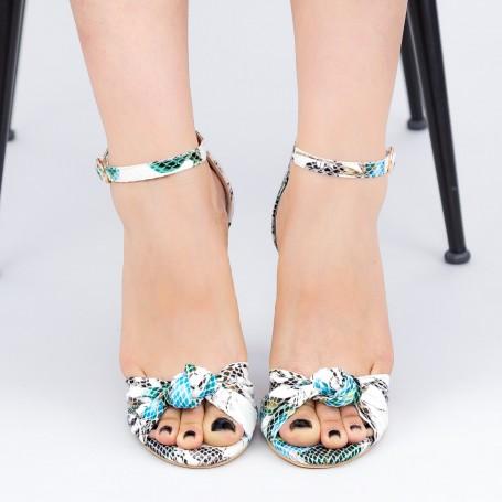 Sandale Dama cu Toc subtire YBS68 Blue Mei