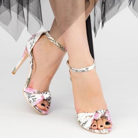 Sandale Dama cu Toc subtire YBS68 Pink Mei