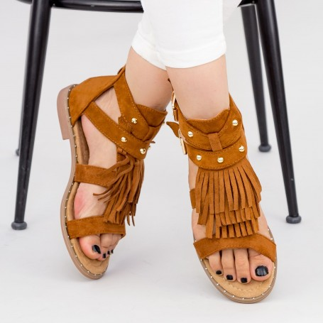 Sandale Dama LE201 Camel Mei