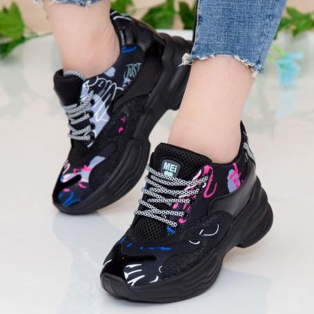 Pantofi Sport Dama cu Platforma SZ230 Black Mei
