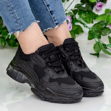 Pantofi Sport Dama YKQ193 Black Mei