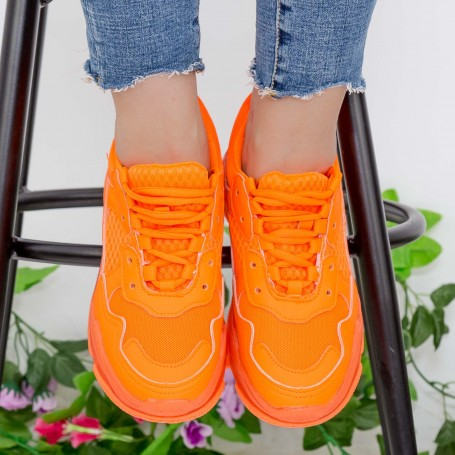 Pantofi Sport Dama YKQ193 Orange Mei