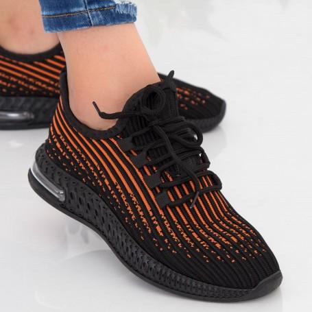 Pantofi Sport Dama LGGH1 Black-Orange Mei