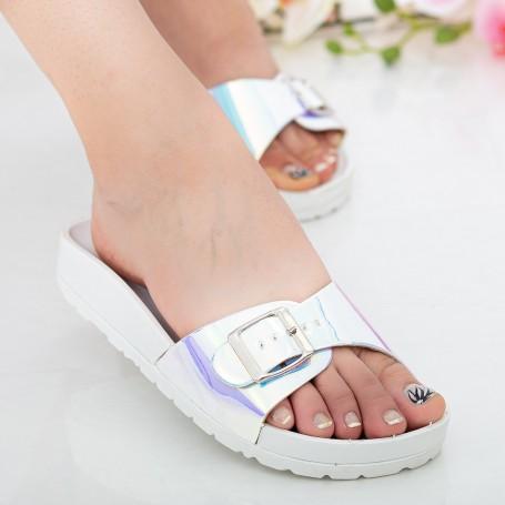 Papuci Dama WS127 White Mei