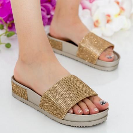 Papuci Dama WS118 Gold Mei
