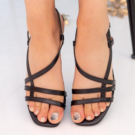 Sandale Dama cu Toc subtire GH1951 Black Mei