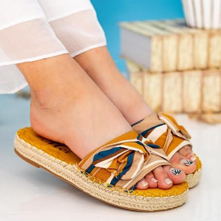 Papuci Dama YFF2 Yellow Mei