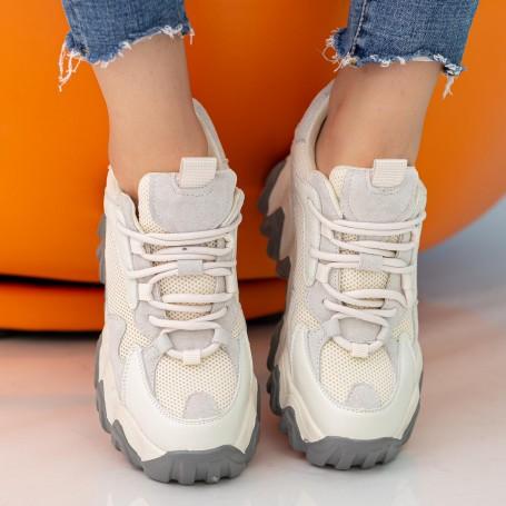 Pantofi Sport Dama cu Platforma CJL21 White Mei