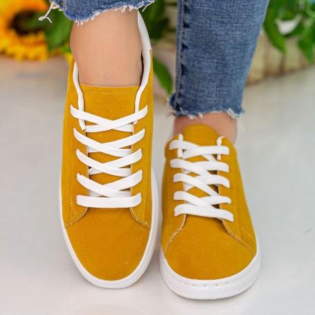 Pantofi Sport Dama WS172 Yellow-White Mei