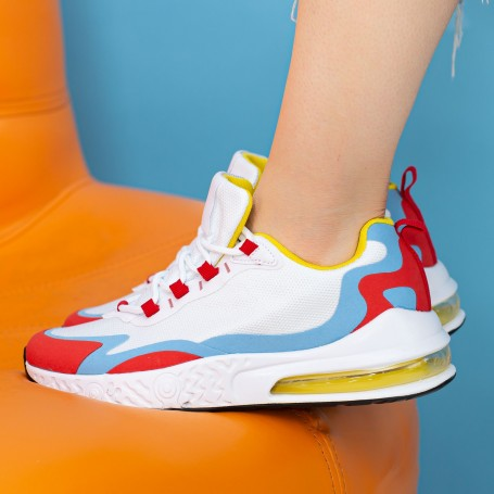 Pantofi Sport Dama OJ2 White-Red Mei