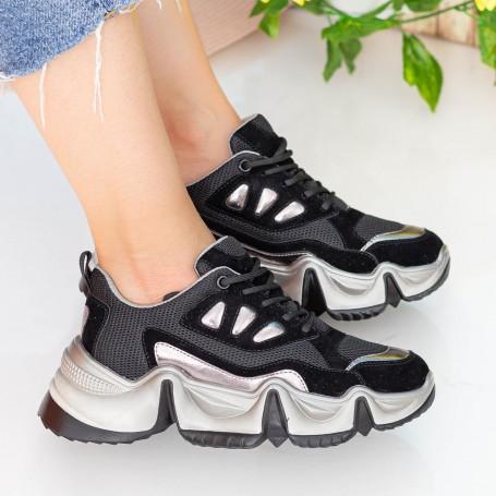 Pantofi Sport Dama cu Platforma SZ253 Black Mei