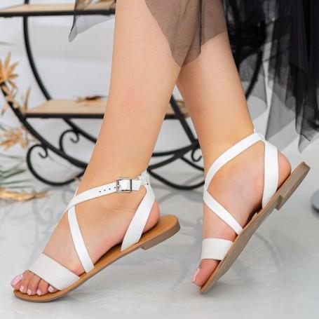 Sandale Dama FS10 White Mei